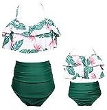 Vawal Kleinkind Baby Mädchen Bikini Badeanzug Set Mutter Tochter Sexy Familie Badebekleidung Strandkleidung (L, Grün)