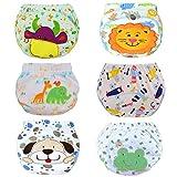 HaimoBurg 6er Pack Wasserdicht Baby Lernwindel Trainerhosen Unterwäsche Windeln Windelhose zum Toilettentraining Töpfchentraining (100, 6 Pack Jungen)