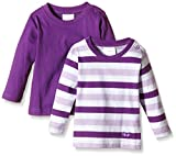 Twins Baby - Mädchen Langarmshirt im 2er Pack, Violett (Amaranth Purple 193536), 0-2 Monate (Herstellergröße: 50)