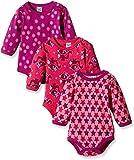 Care Baby - Mädchen Langarm-Body im 3er Pack, Rosa (Pink 569), 0-3 Monate (Herstellergröße: 56)