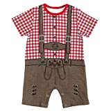 FC Bayern München Baby Body Lederhose, Einzelgrößen:62