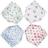 Flyish Baby Trainerhosen Töpfchentraining Unterwäsche Windeln Windelhose zum Toilettentraining Töpfchentraining 6-30 Monaten, 4 Stück, Mädchen, 2 Jahre