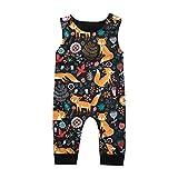 Covermason Babykleidung Säuglingsbaby Jungen Mädchen Strampler Sommer Ärmellos Overall Jumpsuit Karikatur Drucken Kleider … (12-18M, Mehrfarbig)