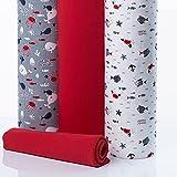 Meterlanger Baumwollstoff, Quiltstoffverpackung, DIY-Bastelstoffe für Textilsets, passende Muster, Jersey, 100% Baumwolle, Babykleidung OEKO-TEX