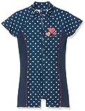 Playshoes Baby-Mädchen UV-Schutz Einteiler Herzchen Badeanzug, Blau (Marine 11), 86/92